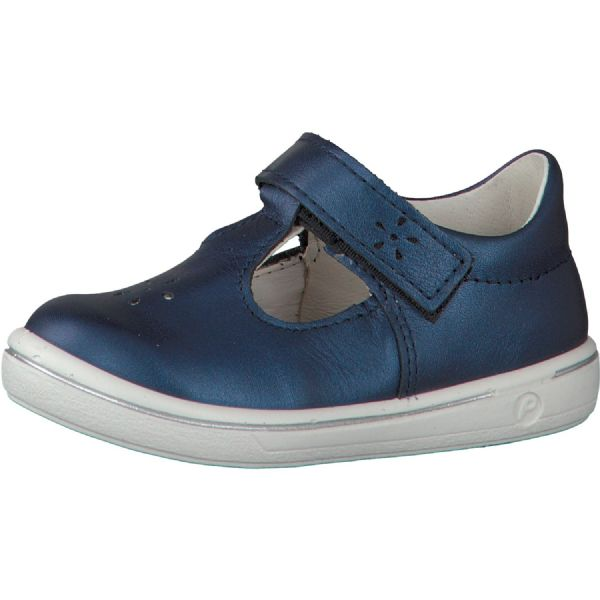 Ricosta WINONA Leather T-Bar Shoe (Navy)